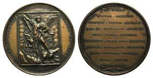Papal, Gregorio XVI (1831-1846). Æ Medal ...