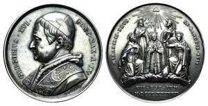 Papal, Gregorio XVI (1831-1846). AR Medal ...