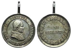 Papal, Pio IX (1846-1878). AR Medal 1846 ...