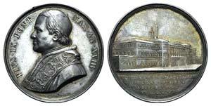 Pio IX (1846-1878). AR Medal 1863 (43mm, ...