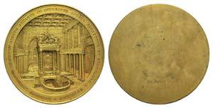 Papal, Pio IX (1846-1878). Gilt Æ uniface ...