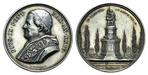 Papal, Pio IX (1846-1878). AR Medal 1869 ...