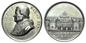 Papal, Pio IX (1846-1878). AR Medal 1870 ...