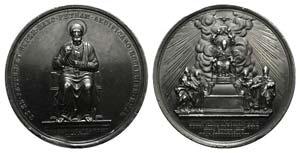 Pio IX (1846-1878). Lead Medal 1871, ...