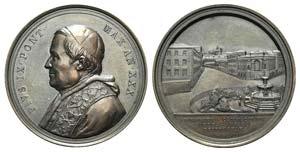 Papal, Pio IX (1846-1878). Æ Medal 1875 ...