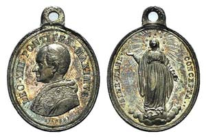 Papal, Leone XIII (1878-1903). AR Medal 1878 ...