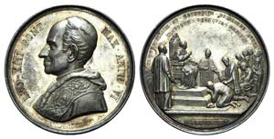 Papal, Leone XIII (1878-1903). AR Medal 1883 ...