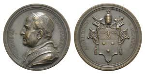 Papal, Pio XI (1922-1939). Æ Medal 1922 ...