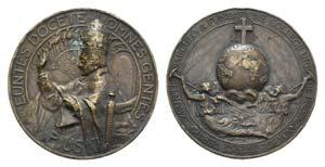 Papal, Pio XI (1922-1939). Æ Medal 1927 ...