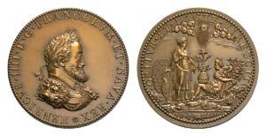 France, Henry IV (1589-1610). Æ Medal ...