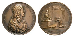 France, Louis XIII (1610-1643). Æ Medal ...