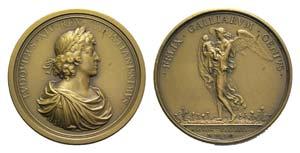 France, Louis XIV (1643-1715). Æ Medal 1691 ...