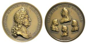 France, Louis XIV (1643-1715). Æ Medal 1693 ...