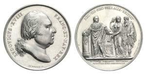 France, Louis XVIII (1815-1824). AR Medal ...