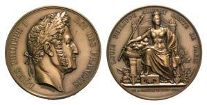 France, Louis Philippe (1830-1848). Æ Medal ...