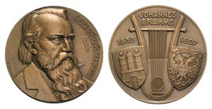 Germany, Johannes Brahms (1833-1897). Æ ...