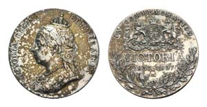 Great Britain, Victoria (1837-1901). AR ...