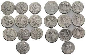 Lot of 10 Roman Republican AR Anonymous ...