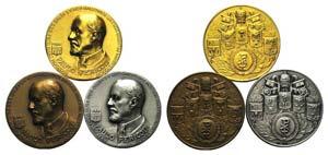 Paulo Pericoli, lot of 3 Medals (Bronze, ...