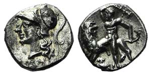 Southern Apulia, Tarentum, c. 280-228 BC. AR ...