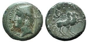 Samnium, Aesernia, c. 263-240 BC. Æ (19mm, ...