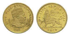Ethiopia, Menelik II (1889-1913). AV Werk EE ...