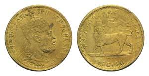 Ethiopia, Menelik II (1889-1913). AV Quarter ...