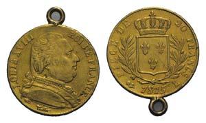 France, Louis XVIII (1814-1824). AV 20 ...
