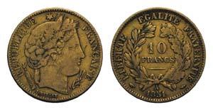 France, Republic. AV 10 Francs 1810, Paris ...