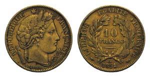 France, Republic. AV 10 Francs 1851, Paris ...