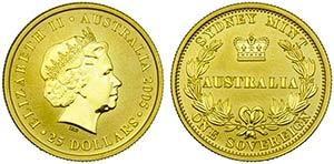 AUSTRALIA - Elisabetta II (1952) - 25 ...