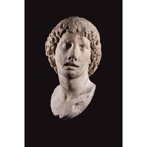 Greek marble head of a charioteer2nd - 1st ...