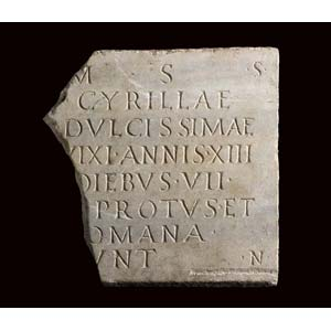 Funeral stele of Cyrillae2nd – 3rd century ...