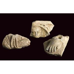 Three funerary reliefs fragments1st – 2nd ...