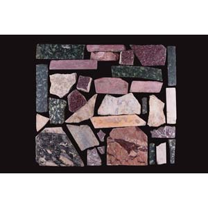 Collection of opus sectile marble tilesRoman ...