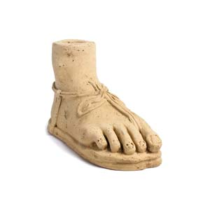 Votive foot with sandal3rd – 2nd century ...