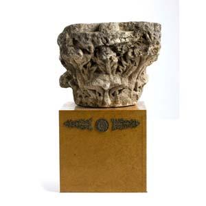 Limestone pseudo-corinthian capitalRoman ...