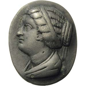 Silver bezel with Berenice II of Egypt3th ...