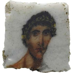 Roman Egyptian glass mosaic with male ...