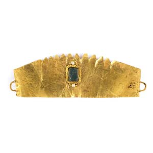 Gold, glass paste and pearls diademEastern ...