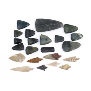 Collection of Neolithic axes and ...