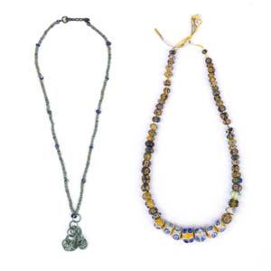 Couple of eye-bead necklacesEastern ...