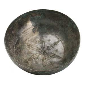 High tin - bronze bowlGandhara, Shahi ...