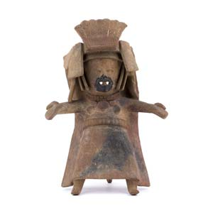 Terracotta female statuette in Remojadas ...