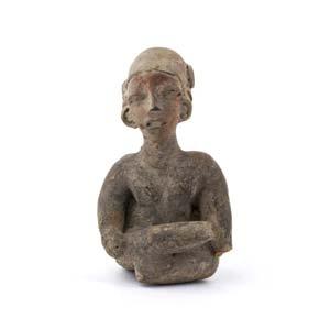 Terracotta female statuetteEcuador, Chorrera ...