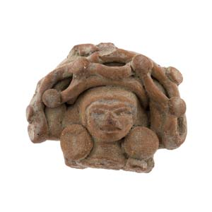 Terracotta goddess head Salvador, Maya ...