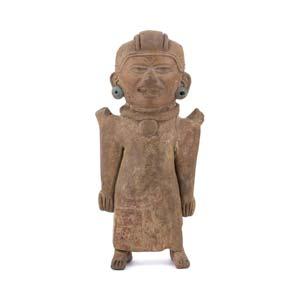 Terracotta anthropomorphic ocarina Mexico, ...