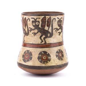 Polychrome ritual beakerPerù, Nazca ...
