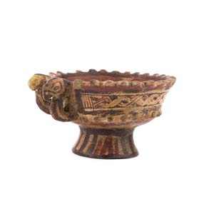 Polychrome footed cup in colombino ...