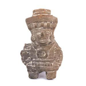 Terracotta anthropomorphic pintaderaMexico, ...
